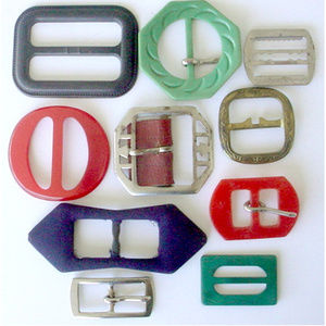 10 Vintage Buckles Metal Cloth Plastic More